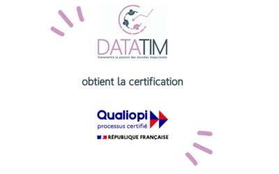 Datatim obtient la certification QUALIOPI
